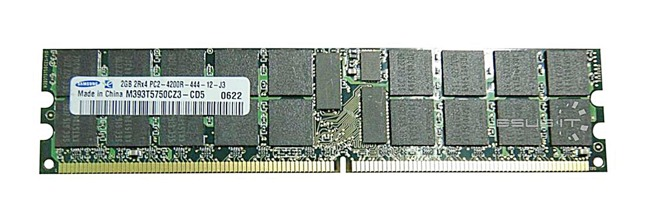Memory RAM 1x 2GB Samsung ECC REGISTERED DDR2  533MHz PC2-4200 RDIMM | M393T5750CZ3-CD5